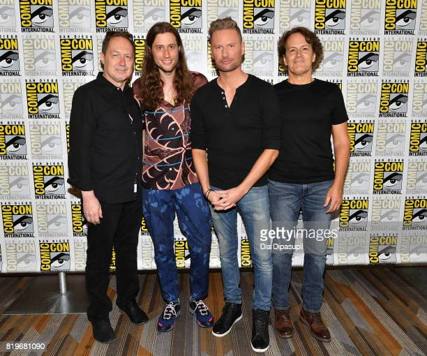 Composers Mark Isham Ludwig Goransson Brian Tyler and David Russo at ComicCon's 5th Annual 'Musical Anatomy Of A Superhero Film Composer' Panel at...