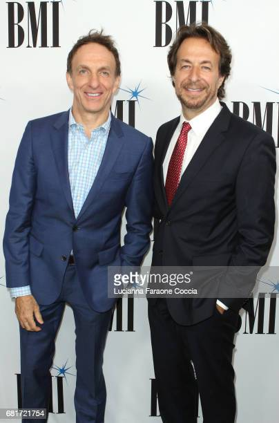 Composers Mychael Danna and Jeff Danna attend the 2017 BMI Film TV And Visual Media Awards at the Beverly Wilshire Four Seasons Hotel on May 10 2017...