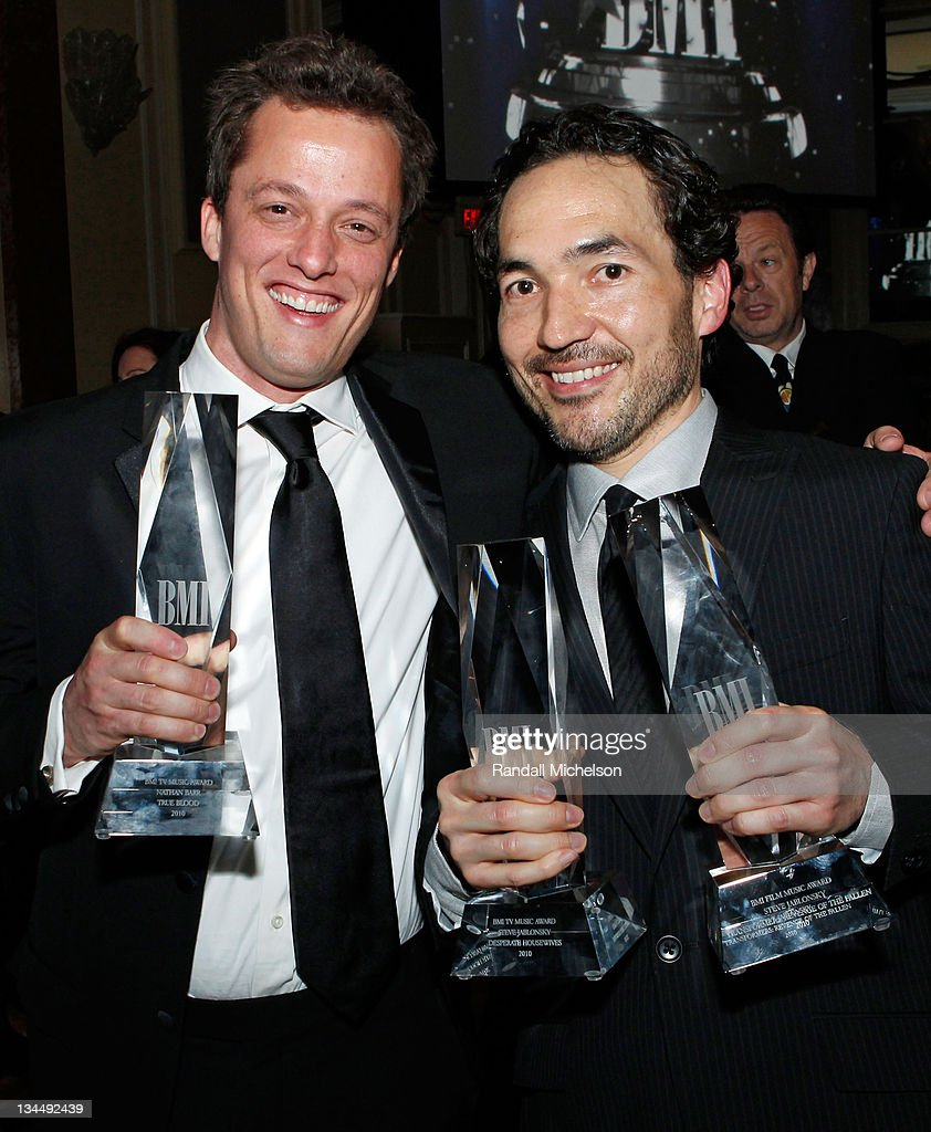Composers Nathan Barr and Steve Jablonsky during the 2010 BMI Film/TV Awards held at the Beverly Wilshire Hotel on May 19, 2010 in Beverly Hills, California.