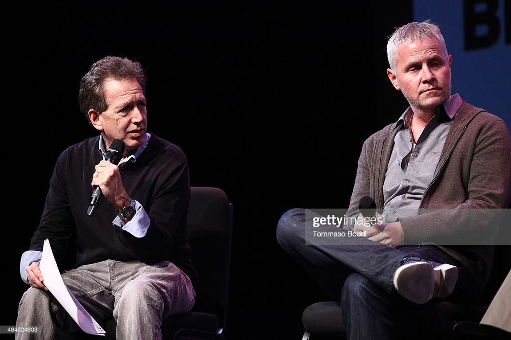 Composers Peter Golub (L) and Blake Neely attend the Sundance Institute Composers Lab LA on April 12, 2014 in Beverly Hills, California.