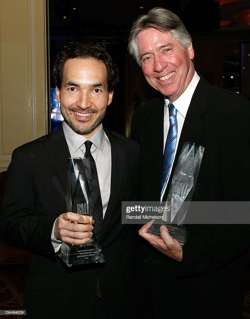Composers Steve Jablonsky and Alan Silvestry during the 2010 BMI Film/TV Awards held at the Beverly Wilshire Hotel on May 19, 2010 in Beverly Hills, California.