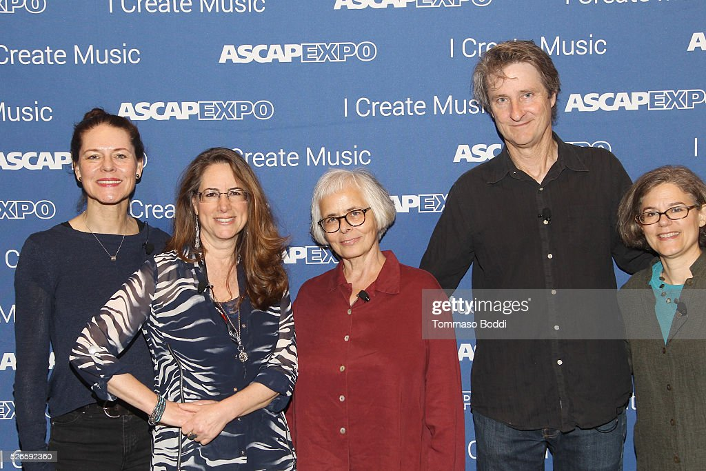 Composers Veronika Krausas and Alex Shapiro, Visual Director, Designer, Animators Candace Reckinger and Michael Patterson, and VP, Concert Music, Membership, ASCAP Cia Toscanini attend the 2016 ASCAP 'I Create Music' EXPO on April 30, 2016 in Los Angeles, California.
