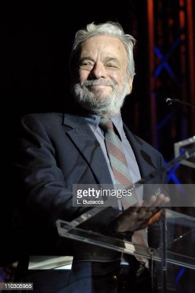 Composer/songwriter Stephen Sondheim accepts his award during the Recording Academy New York Chapter's Tribute to Bon Jovi Alicia Keys Donnie...