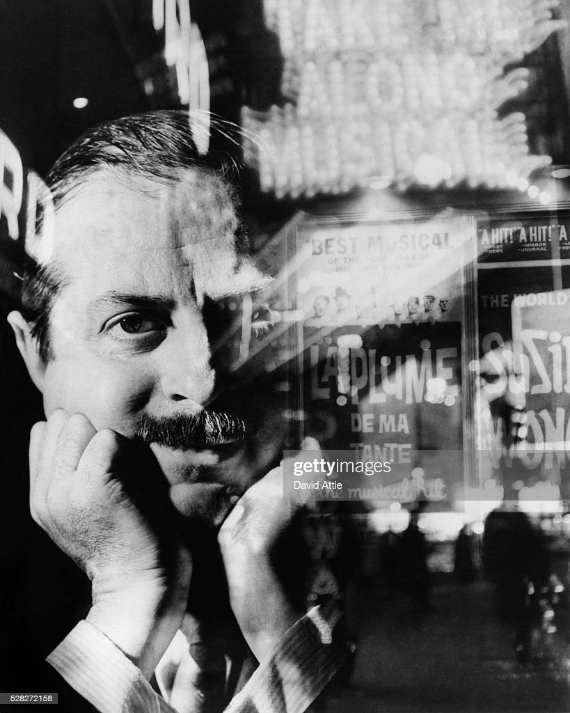 A composit of Broadway producer David Merrick in 1959 in New York City, New York.