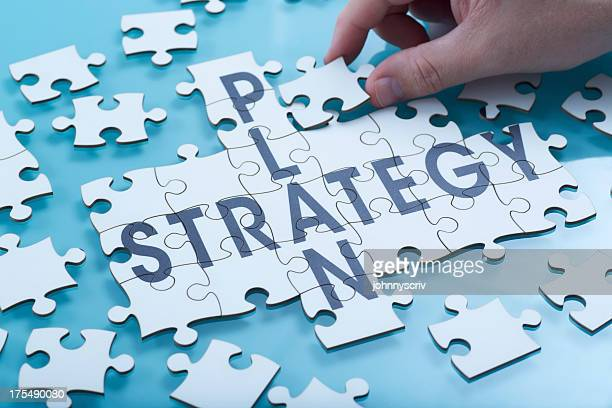 Composite image of a strategy puzzle