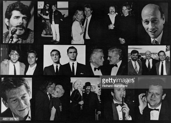 A composite image of actors and filmmakers who are due to attend the Cannes International Film Festival in May 1989 Top row left to right George...