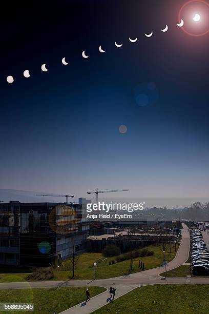 Composite Image Of An Annular Solar Eclipse