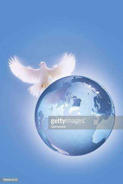 Composite of dove and globe