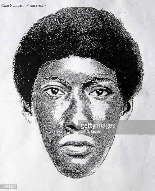 A composite sketch of a suspect in a deadly shooting at a staterun liquor store in September 2002 is shown October 24 2002 in Montgomery Alabama...