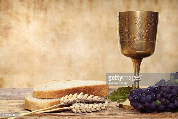 Composition of Communion chalice and bread