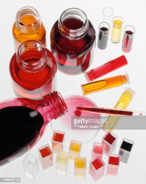 Composition of food coloring liquids