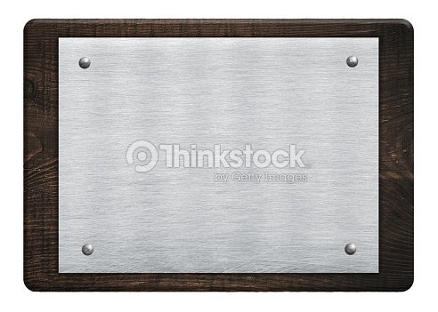 Composition Of Metal Aluminum Plaque Name Plate Wooden