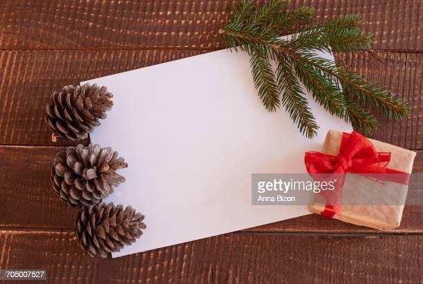 Composition of pretty Christmas ornaments. Debica, Poland