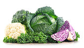 Composition with raw organic vegetables. Balanced diet