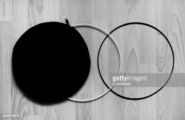 Composition with three circles.