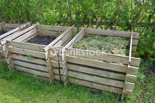 Kompost Im Garten Stock Foto Thinkstock