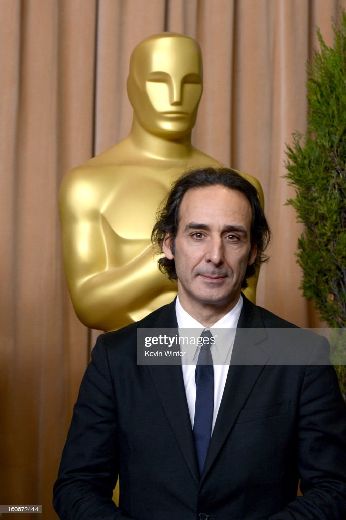 Composter <a gi-track='captionPersonalityLinkClicked' href=/galleries/search?phrase=Alexandre+Desplat&family=editorial&specificpeople=4162223 ng-click='$event.stopPropagation()'>Alexandre Desplat</a> attends the 85th Academy Awards Nominations Luncheon at The Beverly Hilton Hotel on February 4, 2013 in Beverly Hills, California.