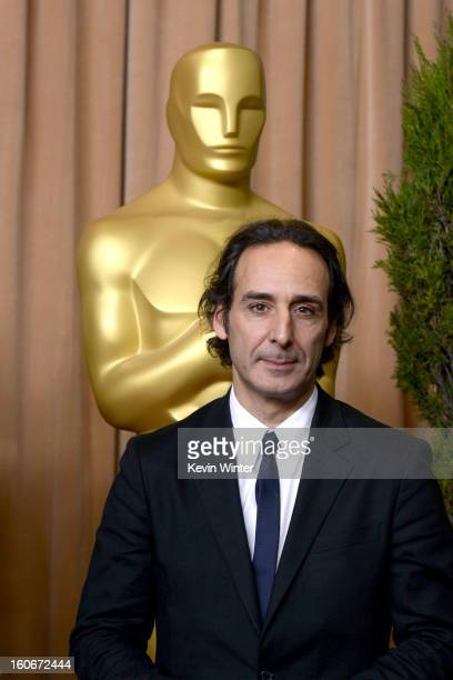 Composter Alexandre Desplat attends the 85th Academy Awards Nominations Luncheon at The Beverly Hilton Hotel on February 4 2013 in Beverly Hills...