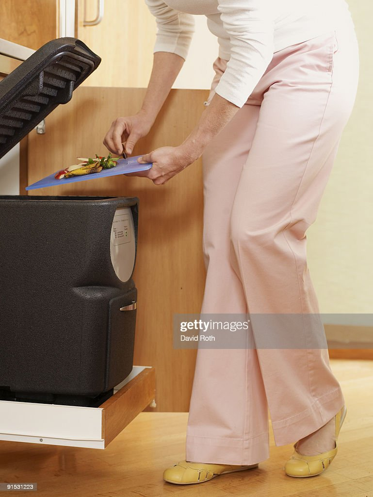 composting in the kitchen : Stock Photo