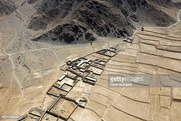 Compounds of homes in the dry inhospitable landscapes of eastern Afghanistan