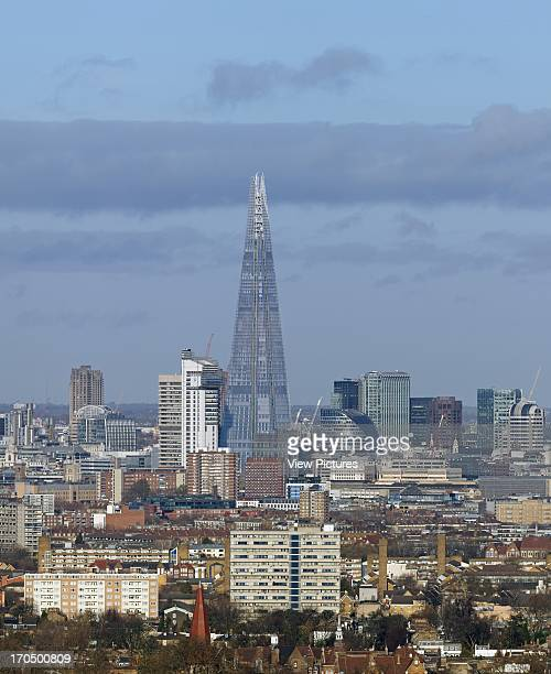Comprehensive view from south east to city skyline The SHARD London United Kingdom Architect Renzo Piano Building Workshop 2012