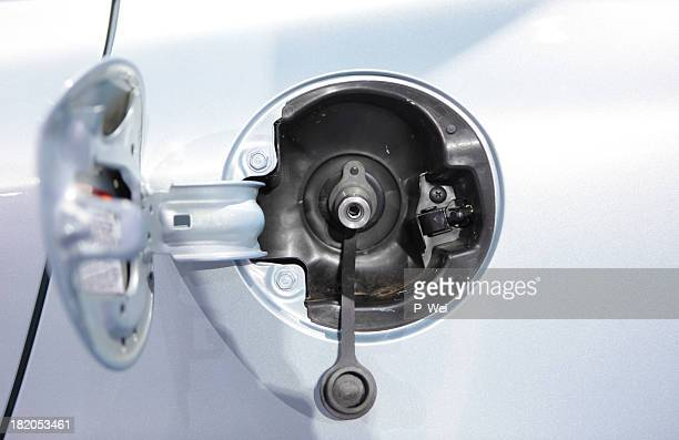 Compressed Natural Gas Vehicle Fuel Port and Cap
