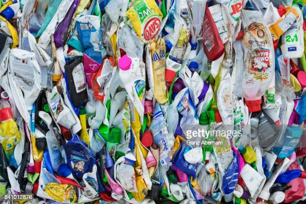 Compressed plastic waste