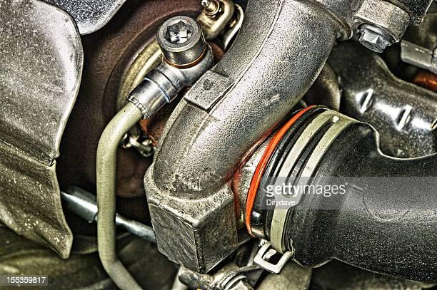 Kompressor Seite Turbocharger auf moderne kleine Diesel-Motor