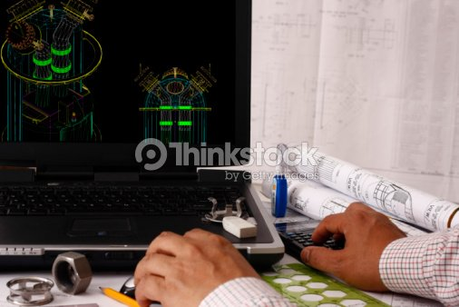 Computer Aided Design of Vessel Tower : Stock Photo