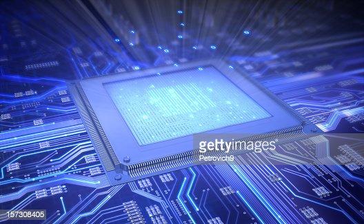 Ilustração vetorial de Circuito Integrado de Computador