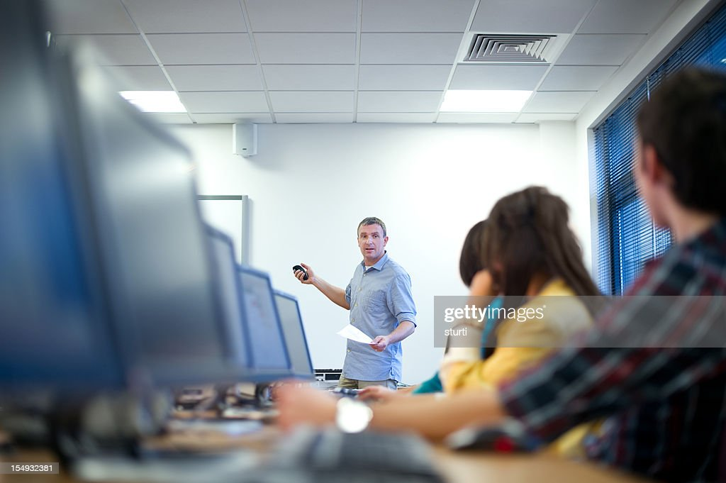 computer class : Stock Photo