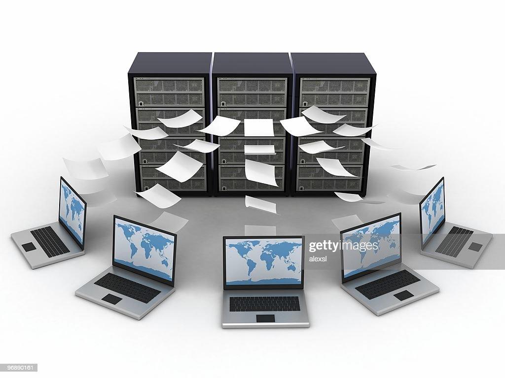 Computer Data Center : Stock Photo