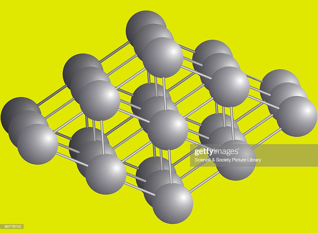 Computer generated illustration of the molecular structure of titanium by Peter Bailes