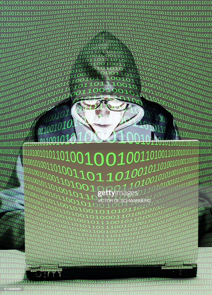Computer hacker : Stock Photo