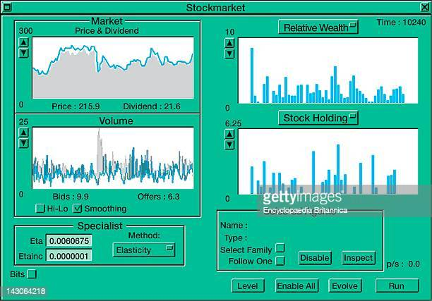 Computer Interface For An Artificial Stock Market Simulating The Relationship Between Offers And Bids
