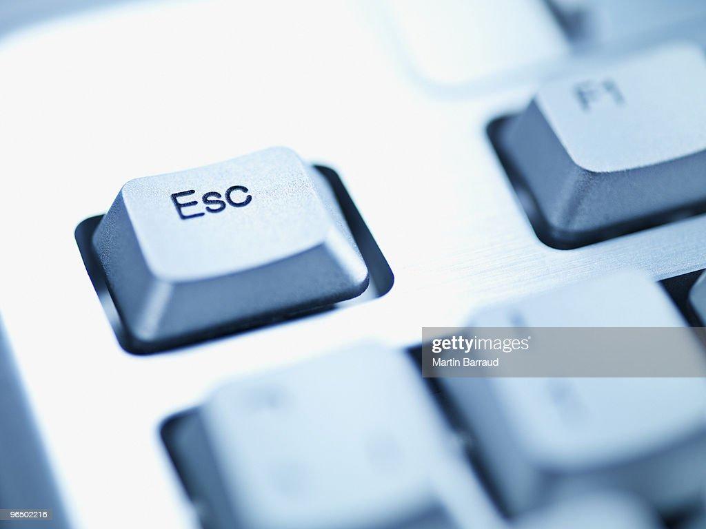 Computer keyboard escape key : Stock Photo