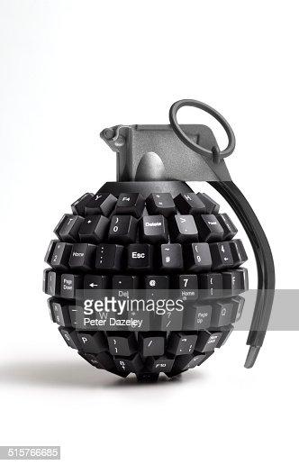 Computer keyboard hand grenade