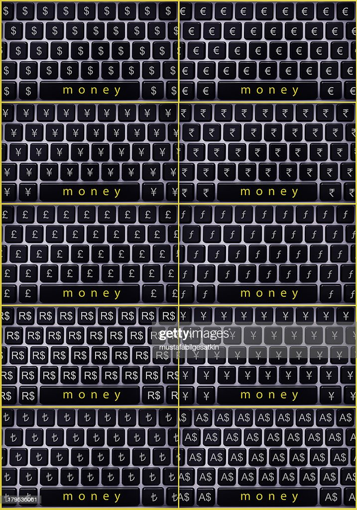 Computer Keyboard Making Full Money Symbol Stock Photo Getty Images
