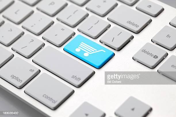 Computer-Tastatur-Einkaufswagen-Symbol