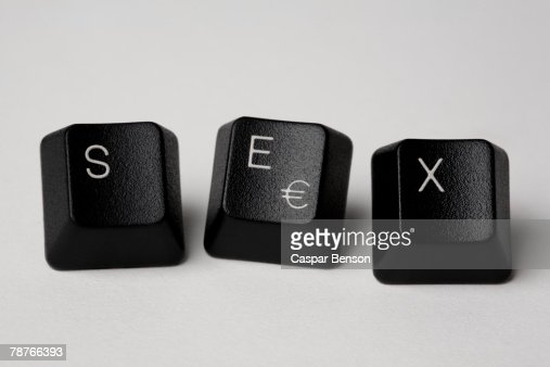 Computer keys spelling 'Sex'