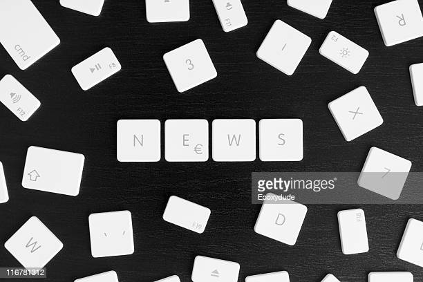 Computer keys spelling the word NEWS