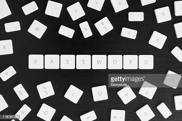 Computer keys spelling the word PASSWORD