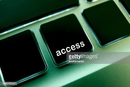 Computer laptop keypad 'access' button.