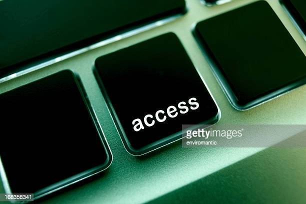 Computer laptop keypad 'access' button.