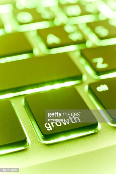 Computer laptop keypad 'growth' button.