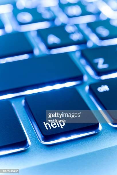 Computer laptop keypad 'help' button.