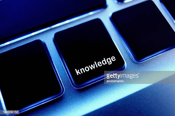 Computer laptop keypad 'knowledge' button.