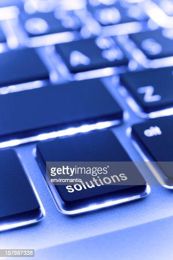 Computer laptop keypad 'solutions' button.