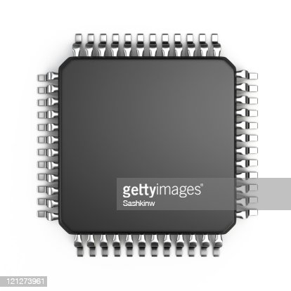 Computer micro chip : Stock Photo