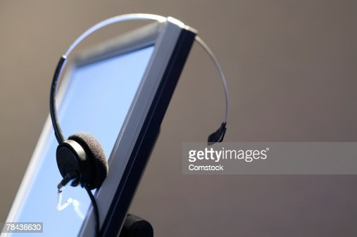 Computer monitor with headset